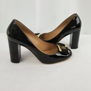 Salvatore Ferragamo Bow Block Heels Pumps size 8 C